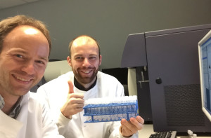 Sebastian Nielsen, PhD student, and Michael Schmid (PI) are happy to have finally completed the acquisition of all samples by flow.
